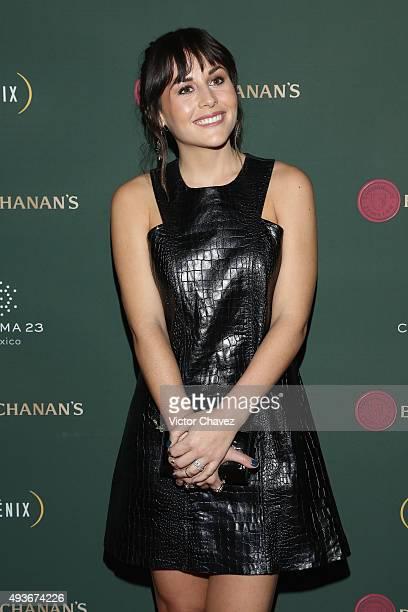 Actress Zuria Vega attends Premio Buchanana's A la grandeza del Cine Mexicano red carpet at Campo Marte on October 21 2015 in Mexico City Mexico