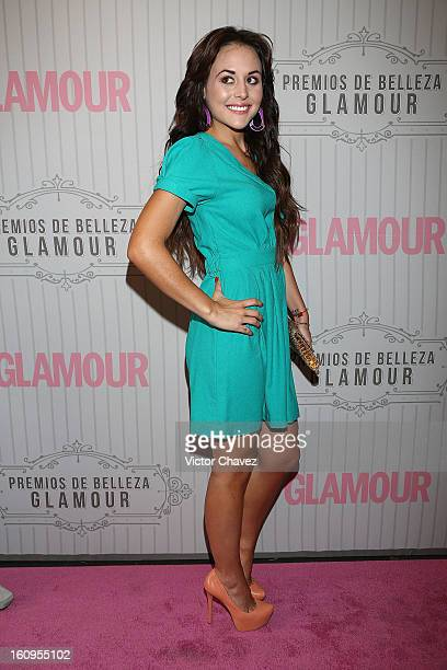 Actress Zuria Vega attends the Glamour Magazine Mexico Beauty Awards 2013 pink carpet at Estacion Indianillas on February 7 2013 in Mexico City Mexico