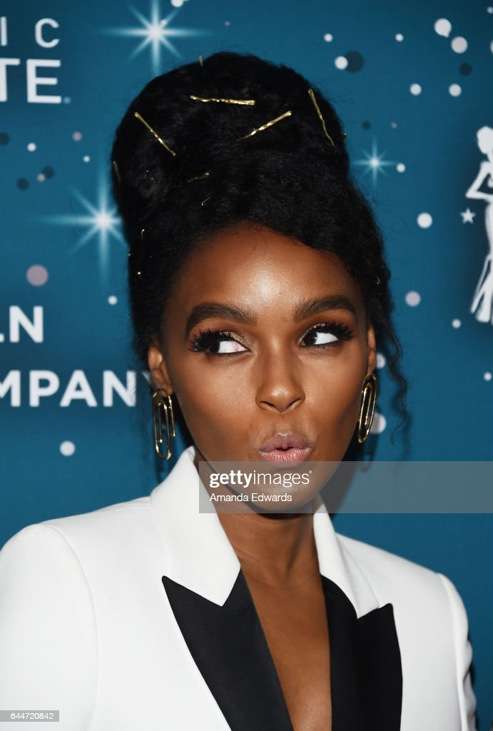 Actressand singer Janelle Monae arrives at the Essence 10th Annual Black Women in Hollywood Awards Gala at the Beverly Wilshire Four Seasons Hotel on February 23, 2017 in Beverly Hills, California.
