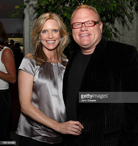 Actress/Author Courtney Thorne Smith and actor Larry Joe Campbell at Vanity Fair's book launch party for 'Outside In' by Courtney Thorne Smith at the...