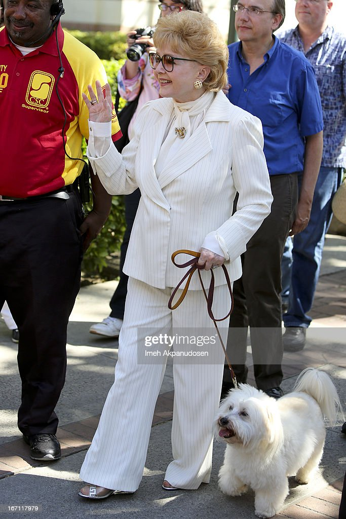Actress/author Debbie Reynolds attends the 18th Annual LA Times Festival Of Books at USC on April 20, 2013 in Los Angeles, California.