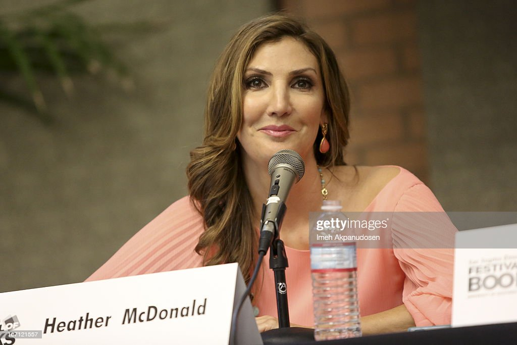 Actress/author <a gi-track='captionPersonalityLinkClicked' href=/galleries/search?phrase=Heather+McDonald&family=editorial&specificpeople=4756128 ng-click='$event.stopPropagation()'>Heather McDonald</a> speaks onstage at the 18th Annual LA Times Festival Of Books at USC on April 20, 2013 in Los Angeles, California.