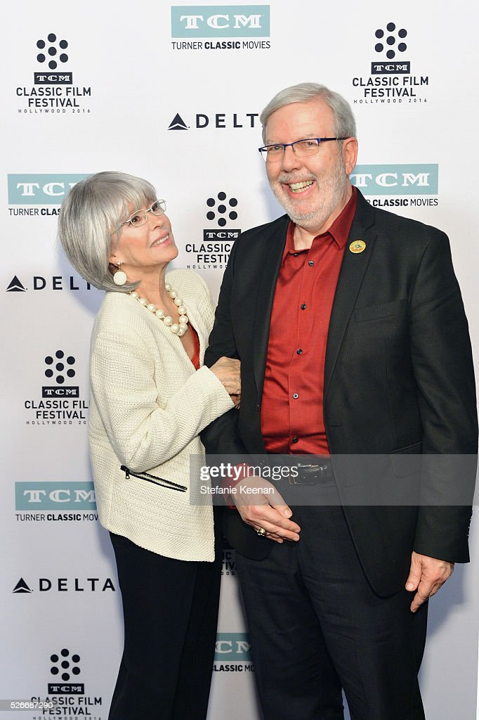 Actress/Author Rita Moreno (L) and film critic Leonard Maltin attend 'The King and I' screening during day 3 of the TCM Classic Film Festival 2016 on April 30, 2016 in Los Angeles, California. 25826_005