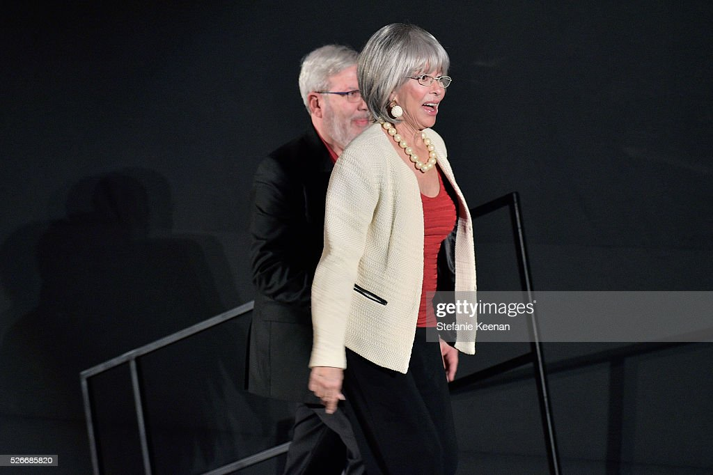 Actress/Author <a gi-track='captionPersonalityLinkClicked' href=/galleries/search?phrase=Rita+Moreno&family=editorial&specificpeople=210549 ng-click='$event.stopPropagation()'>Rita Moreno</a> (R) and film critic <a gi-track='captionPersonalityLinkClicked' href=/galleries/search?phrase=Leonard+Maltin&family=editorial&specificpeople=208242 ng-click='$event.stopPropagation()'>Leonard Maltin</a> onstage during 'The King and I' screening during day 3 of the TCM Classic Film Festival 2016 on April 30, 2016 in Los Angeles, California. 25826_005