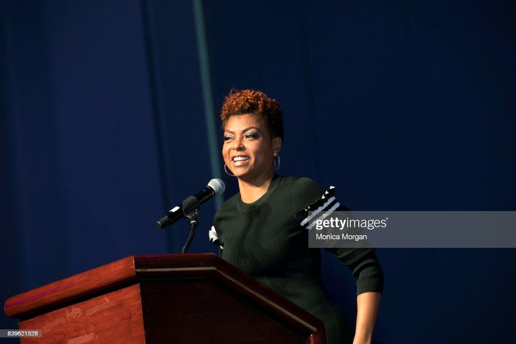 Actress/author Taraji P. Henson speaks during the Women's Empowerment Expo at Cobo Center on August 26, 2017 in Detroit, Michigan.