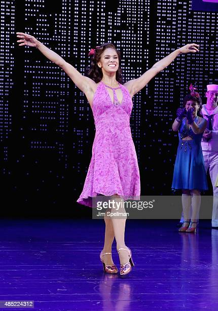 Actress/ballet dancer Misty Copeland attends her debut performance in Broadway's 'On The Town' at the Lyric Theatre on August 25 2015 in New York City