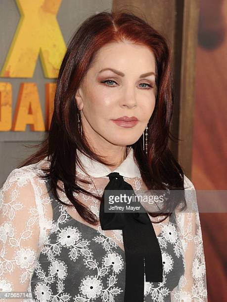 Actress/business magnate Priscilla Presley arrives at the 'Mad Max Fury Road' Los Angeles Premiere at TCL Chinese Theatre IMAX on May 7 2015 in...