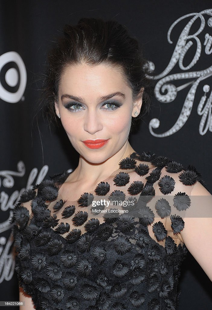 Actress/cast member Emilia Clarke attends the 'Breakfast At Tiffany's' Broadway Opening Night after party at The Edison Ballroom on March 20, 2013 in New York City.