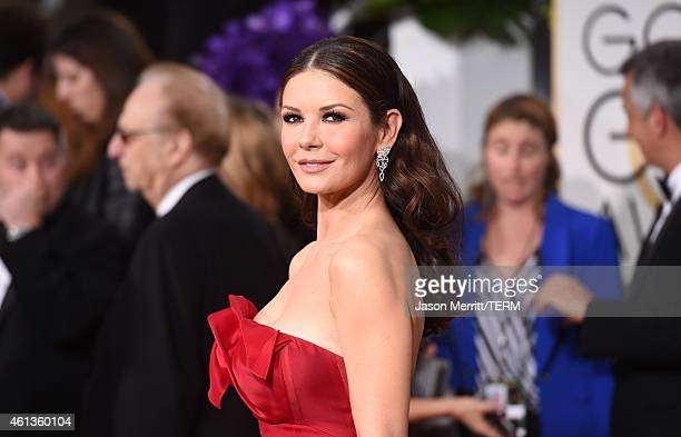 ActressCatherine ZetaJones attends the 72nd Annual Golden Globe Awards at The Beverly Hilton Hotel on January 11 2015 in Beverly Hills California