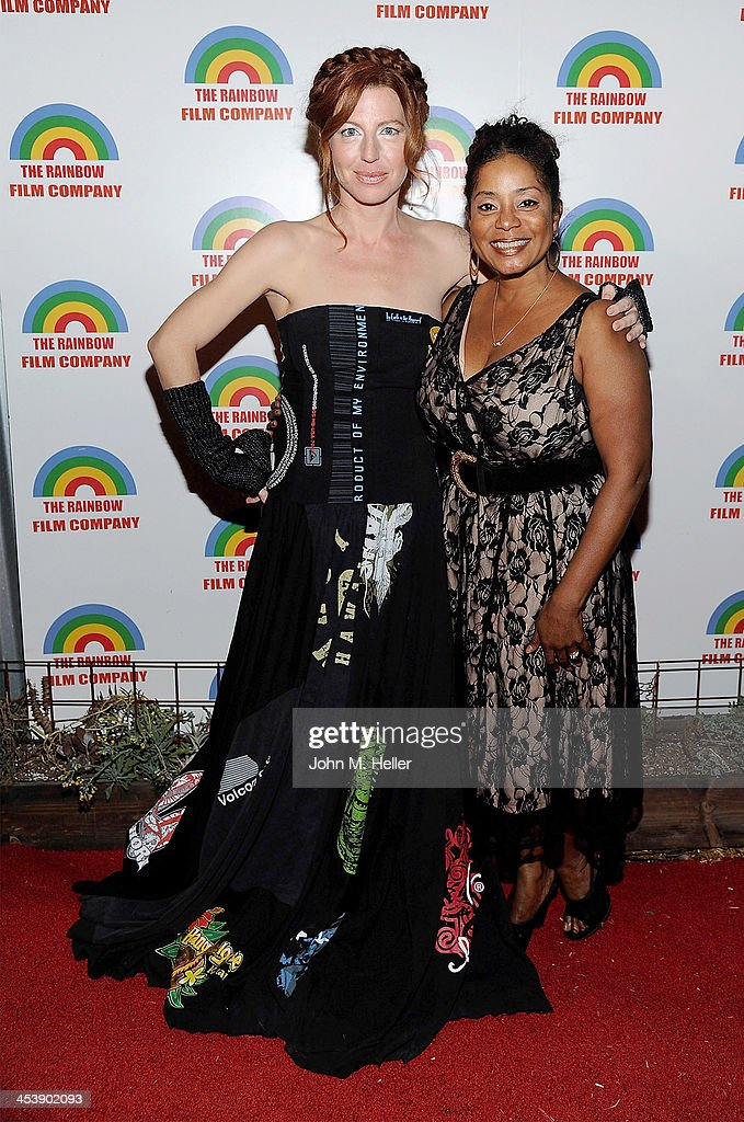 Actress/co-founder PSOS <a gi-track='captionPersonalityLinkClicked' href=/galleries/search?phrase=Tanna+Frederick&family=editorial&specificpeople=3991940 ng-click='$event.stopPropagation()'>Tanna Frederick</a> and producer Donzaleigh Abernathy attend the Project Save Our Surf Holiday Celebration and Fundraiser at the Brakeman Brewery on December 5, 2013 in Los Angeles, California.