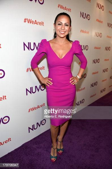 Actress/comdian Anjelah Johnson arrives at the NUVOtv Network Launch Party at The London West Hollywood on July 16 2013 in West Hollywood California