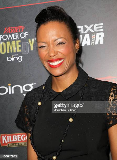 Actress/comedian Aisha Tyler arrives at Variety's 3rd annual Power of Comedy event presented by Bing benefiting the Noreen Fraser Foundation held at...