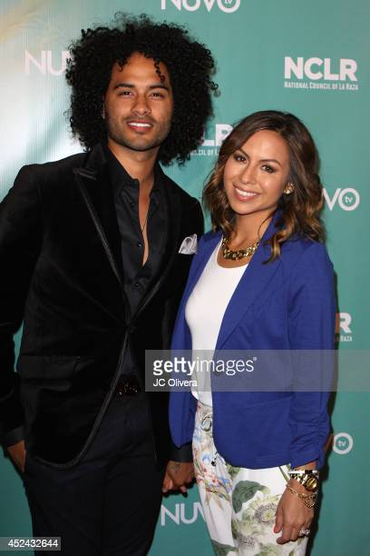 Actress/comedian Anjelah Johnson and husband Manwell Reyes attend NCLR Exclusive Night Of Comedy at Los Angeles Convention Center on July 19 2014 in...