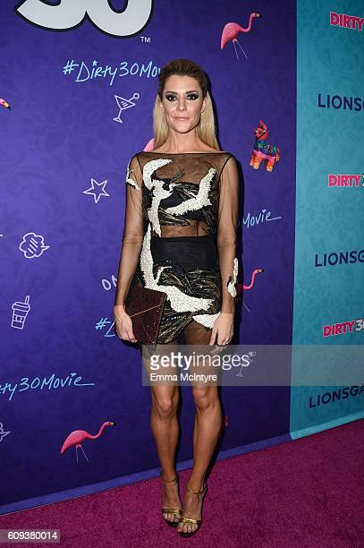 Actress/comedian Grace Helbig arrives at the premiere of Lionsgate's 'Dirty 30' at ArcLight Hollywood on September 20 2016 in Hollywood California