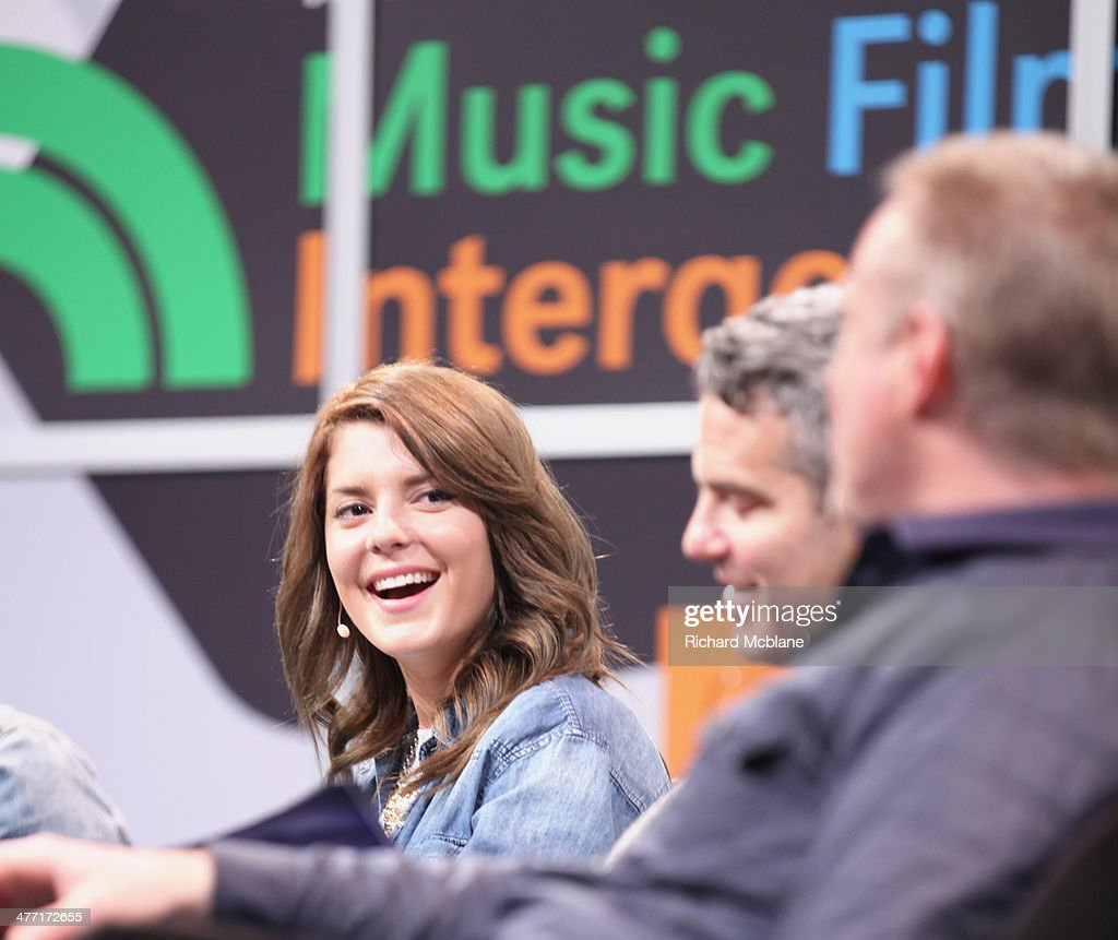 Actress/comedian Grace Helbig, tv personality Andy Cohen and online personality Ze Frank speak onstage at 'Super Fandom in the Digital Age' during the 2014 SXSW Music, Film + Interactive Festival at Austin Convention Center on March 7, 2014 in Austin, Texas.