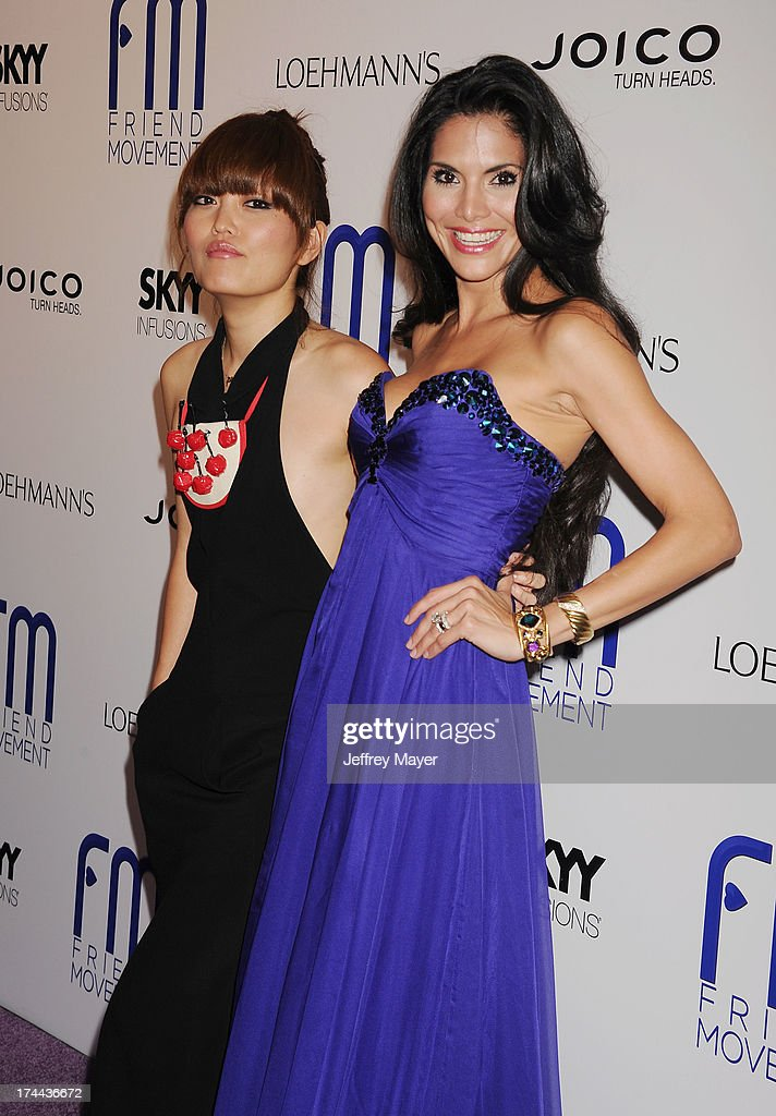 Actress/comedian Hana Mae Lee and model Joyce Giraud attend the Friend Movement Anti-Bullying Benefit Concert at the El Rey Theatre on July 1, 2013 in Los Angeles, California.