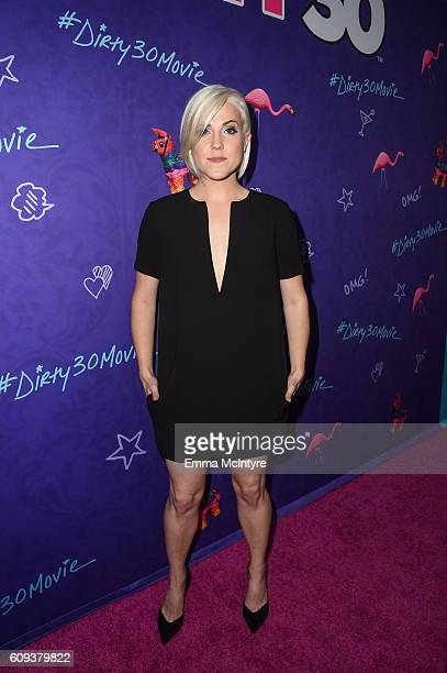 Actress/comedian Hannah Hart arrives at the premiere of Lionsgate's 'Dirty 30' at ArcLight Hollywood on September 20 2016 in Hollywood California
