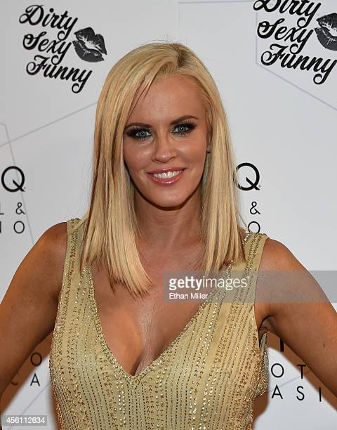 Actress/comedian Jenny McCarthy arrives at The LINQ to promote her 'Dirty Sexy Funny' comedy show on September 25 2014 in Las Vegas Nevada The tour...