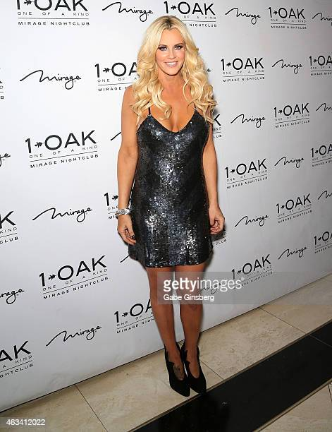 Actress/comedian Jenny McCarthy attends a Valentine's weekend party at 1 OAK Nightclub at The Mirage Hotel Casino on February 14 2015 in Las Vegas...