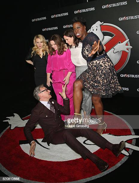 Actress/comedian Kate McKinnon director/writer Paul Feig actresses and comedians Melissa McCarthy Kristen Wiig and Leslie Jones attend Sony Pictures...