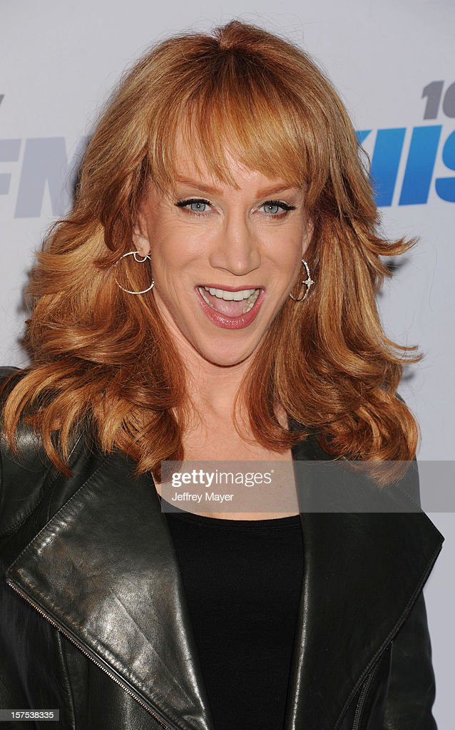 Actress/Comedian <a gi-track='captionPersonalityLinkClicked' href=/galleries/search?phrase=Kathy+Griffin&family=editorial&specificpeople=203161 ng-click='$event.stopPropagation()'>Kathy Griffin</a> attends the KIIS FM's Jingle Ball 2012 held at Nokia Theatre LA Live on December 3, 2012 in Los Angeles, California.