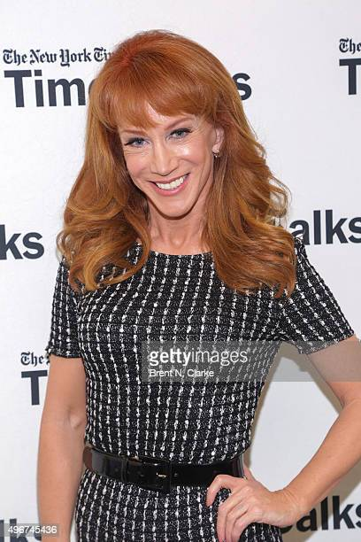 Actress/comedian Kathy Griffin attends TimesTalks with Kathy Griffin held at the Merkin Concert Hall on November 11 2015 in New York City