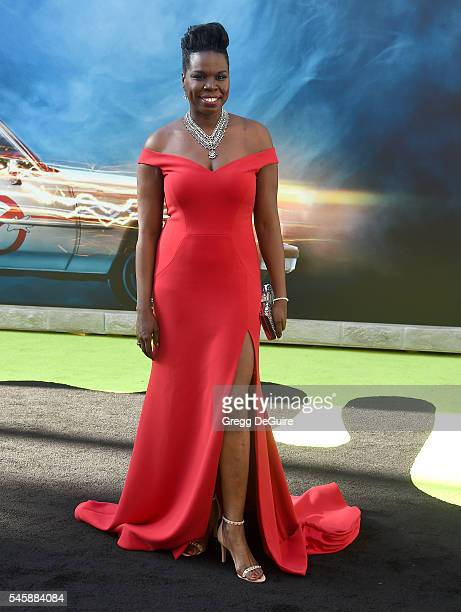 Actress/comedian Leslie Jones arrives at the premiere of Sony Pictures' 'Ghostbusters' at TCL Chinese Theatre on July 9 2016 in Hollywood California