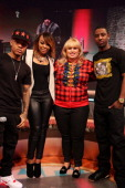 Actress/comedian Rebel Wilson visits BET's '106 Park' with hosts Bow Wow Paigion and Shorty Da Prince at BET Studios on April 29 in New York City