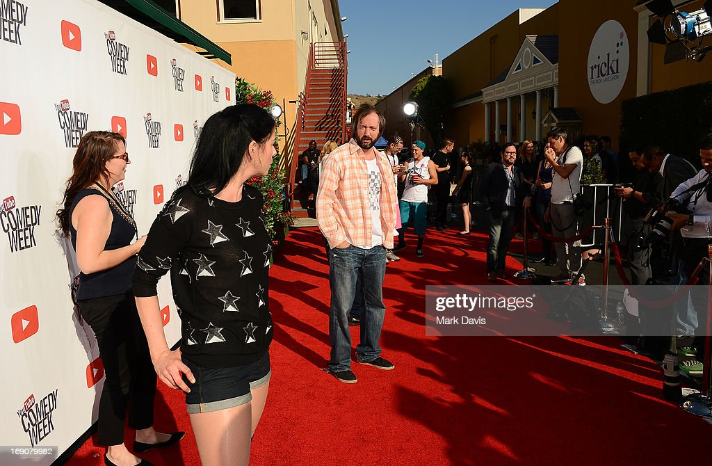 Actress/comedian Sarah Silverman and actor/comeidan Tom Green attend 'The Big Live Comedy Show' presented by YouTube Comedy Week held at Culver Studios on May 19, 2013 in Culver City, California.