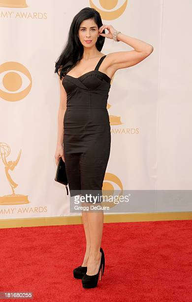 Actress/comedian Sarah Silverman arrives at the 65th Annual Primetime Emmy Awards at Nokia Theatre LA Live on September 22 2013 in Los Angeles...