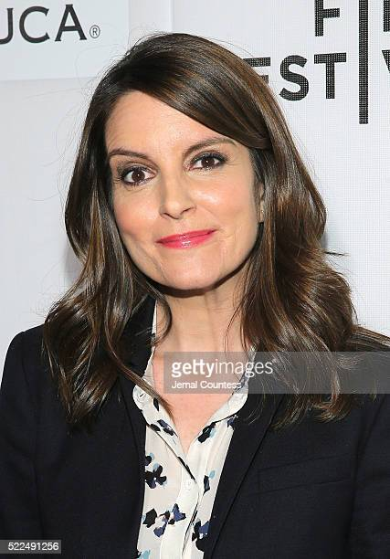 Actress/comedian Tina Fey attends the Tribeca Talks StorytellersTina Fey With Damian Holbrook at the 2016 Tribeca Film Festival at John Zuccotti...