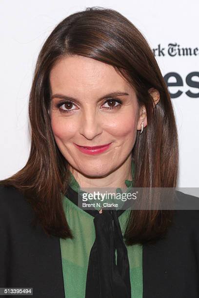 Actress/comedian Tina Fey attends TimesTalks presents 'Whiskey Tango Foxtrot' held at Florence Gould Hall on March 2 2016 in New York City