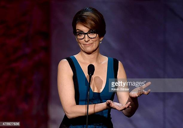 Actress/comedian Tina Fey speaks onstage during the 2015 AFI Life Achievement Award Gala Tribute Honoring Steve Martin at the Dolby Theatre on June 4...