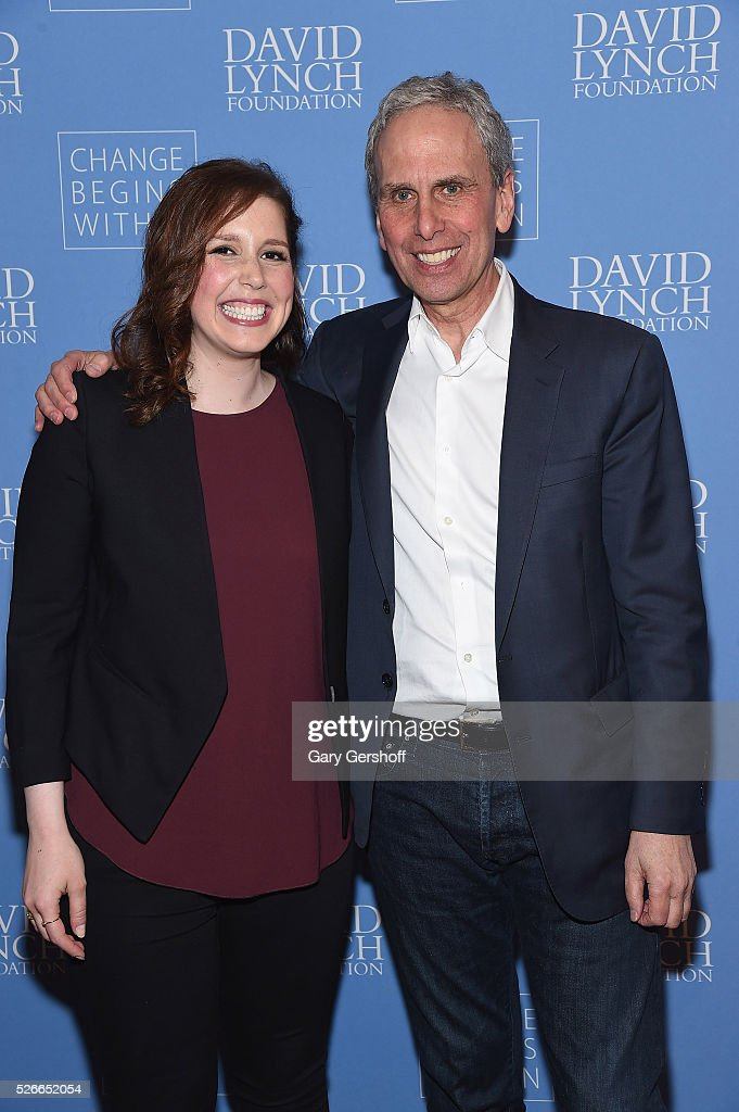 Actress/comedian Vanessa Bayer (L) and Executive Director of The David Lynch Foundation, Bob Roth attend 'An Amazing Night of Comedy: A David Lynch Foundation Benefit for Veterans with PTSD' on April 30, 2016 in New York City.