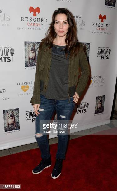 Actress/Comedian Whitney Cummings arrives at 'Stand Up For Pits' Los Angeles charity awareness and fundraising comedy night at Largo on November 3...