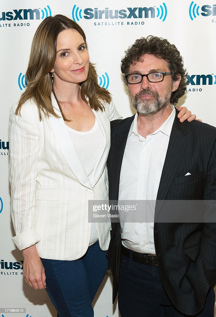 Actress/comedian/writer <a gi-track='captionPersonalityLinkClicked' href=/galleries/search?phrase=Tina+Fey&family=editorial&specificpeople=206753 ng-click='$event.stopPropagation()'>Tina Fey</a> and husband composer/director <a gi-track='captionPersonalityLinkClicked' href=/galleries/search?phrase=Jeff+Richmond&family=editorial&specificpeople=2121745 ng-click='$event.stopPropagation()'>Jeff Richmond</a> visit SiriusXM Studios on June 27, 2013 in New York City.
