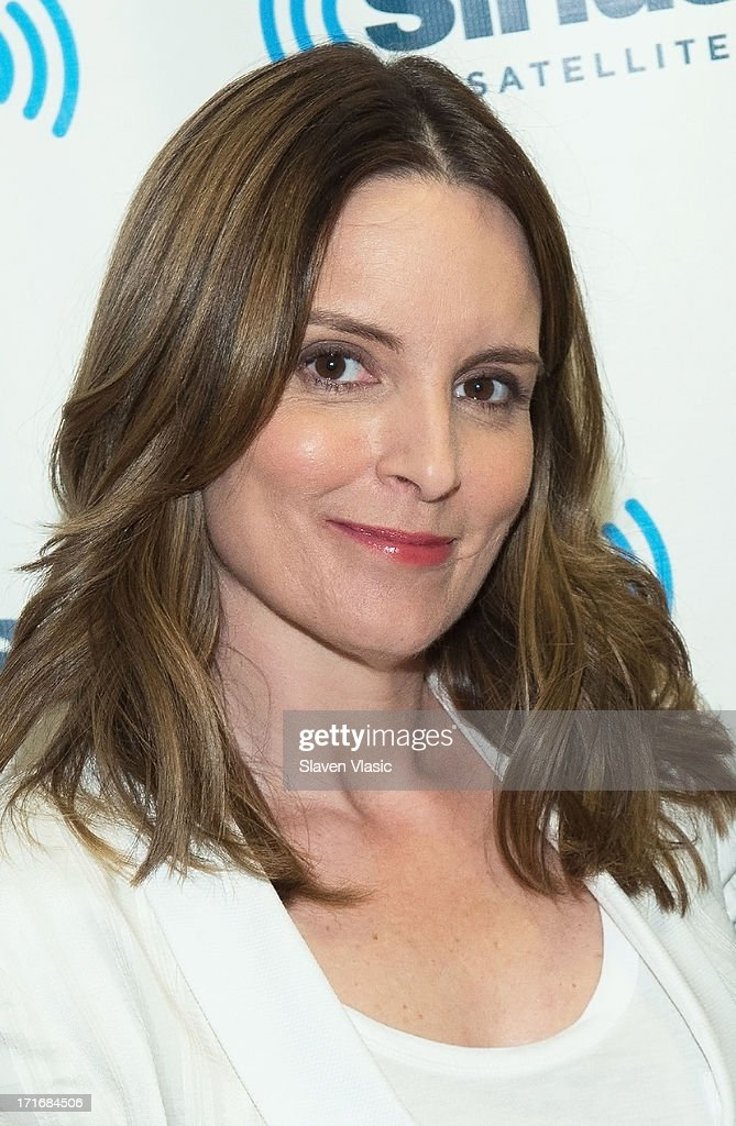 Actress/comedian/writer <a gi-track='captionPersonalityLinkClicked' href=/galleries/search?phrase=Tina+Fey&family=editorial&specificpeople=206753 ng-click='$event.stopPropagation()'>Tina Fey</a> visits SiriusXM Studios on June 27, 2013 in New York City.