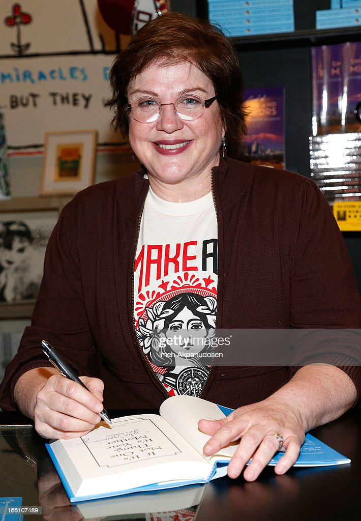 Actress/comedienne Julia Sweeney signs copies of her new book 'If It's Not One Thing, It's Your Mother' at Book Soup on April 8, 2013 in West Hollywood, California.