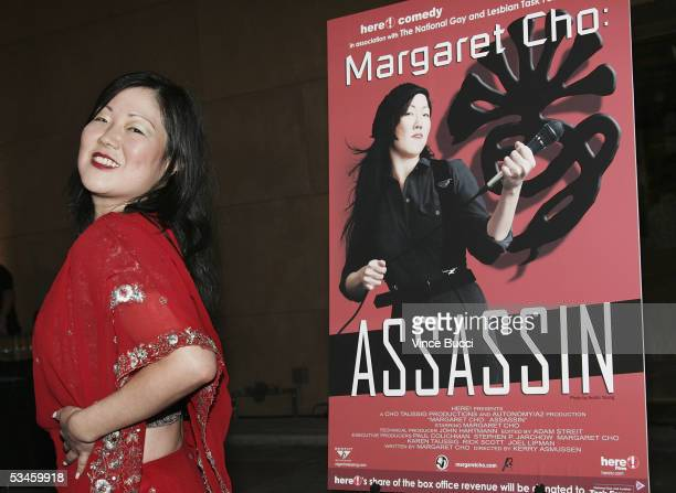 Actresscomedienne Margaret Cho attends the world premiere of the film 'Margaret Cho Assassin' on August 24 2005 at the Egyptian Theatre in Hollywood...