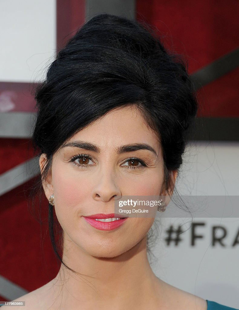 Actress/comedienne <a gi-track='captionPersonalityLinkClicked' href=/galleries/search?phrase=Sarah+Silverman&family=editorial&specificpeople=241299 ng-click='$event.stopPropagation()'>Sarah Silverman</a> arrives at the Comedy Central Roast of James Franco at Culver Studios on August 25, 2013 in Culver City, California.