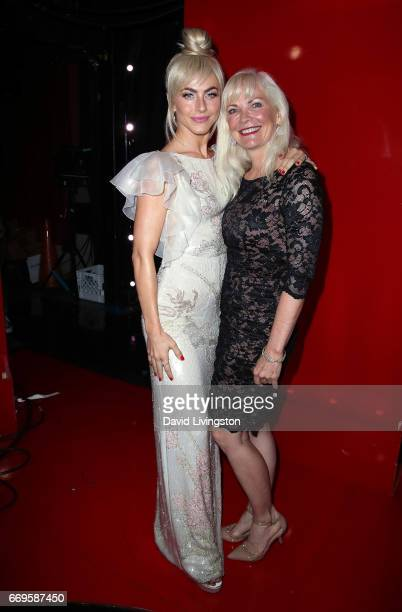 Actress/competition judge Julianne Hough and mother Mari Anne Hough attend 'Dancing with the Stars' Season 24 at CBS Televison City on April 17 2017...