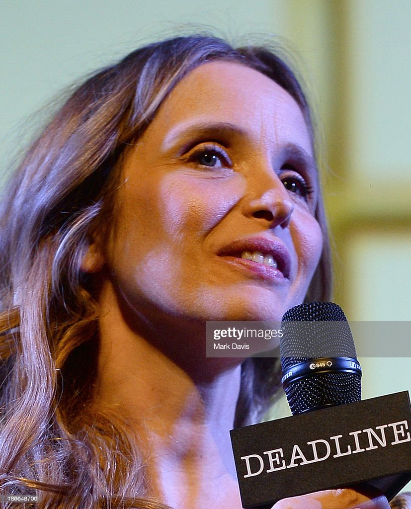 Actress/Co-Writer <a gi-track='captionPersonalityLinkClicked' href=/galleries/search?phrase=Julie+Delpy&family=editorial&specificpeople=201914 ng-click='$event.stopPropagation()'>Julie Delpy</a>, 'Before Midnight', attends Deadline Hollywood's The Contenders on November 2, 2013 in Beverly Hills, California.