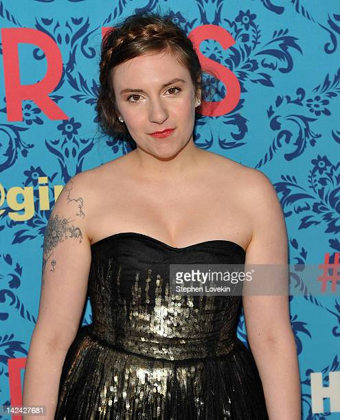 Actress/creator/executive producer Lena Dunham attends the HBO with The Cinema Society host the New York premiere of HBO's 'Girls' at the School of...