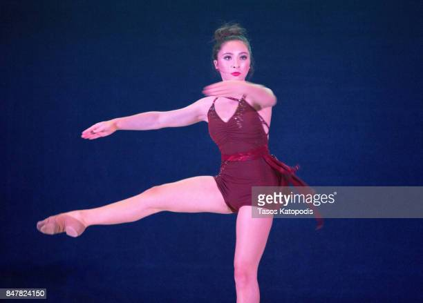 Actress/dancer Ava Cantrell preforms at the National Press Club on September 15 2017 in Washington DC