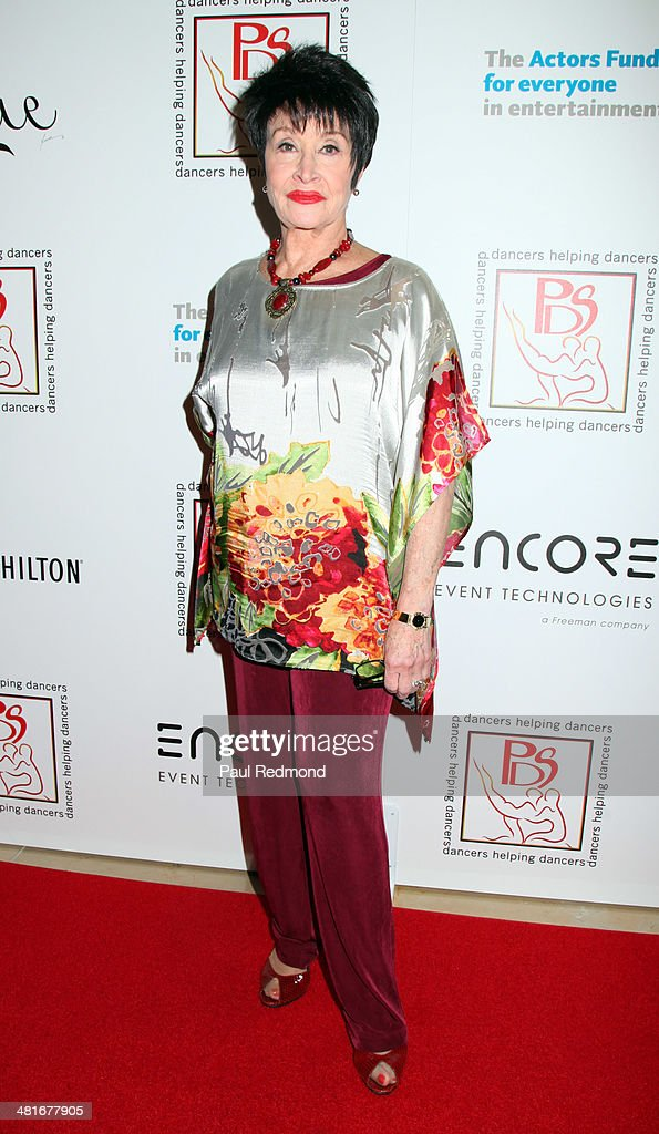 Actress/dancer Chita Rivera attending the Professional Dancers Society's 27th Annual Gypsy Award Luncheon at The Beverly Hilton Hotel on March 30, 2014 in Beverly Hills, California.