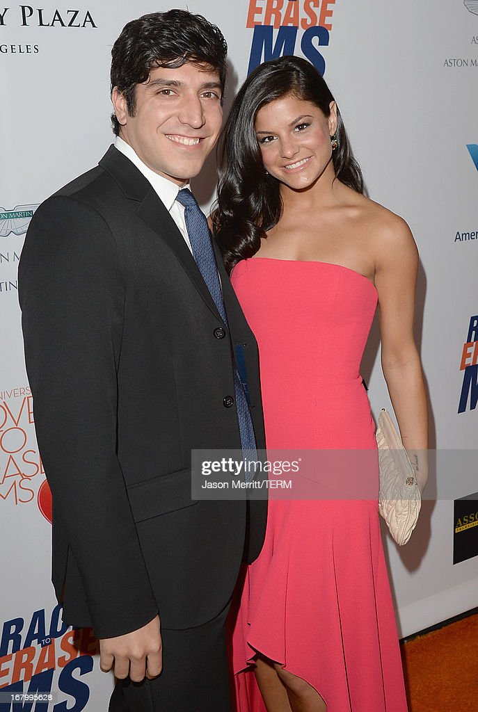 Actress/dancer Courtney Galiano and guest attend the 20th Annual Race To Erase MS Gala 'Love To Erase MS' at the Hyatt Regency Century Plaza on May 3, 2013 in Century City, California.