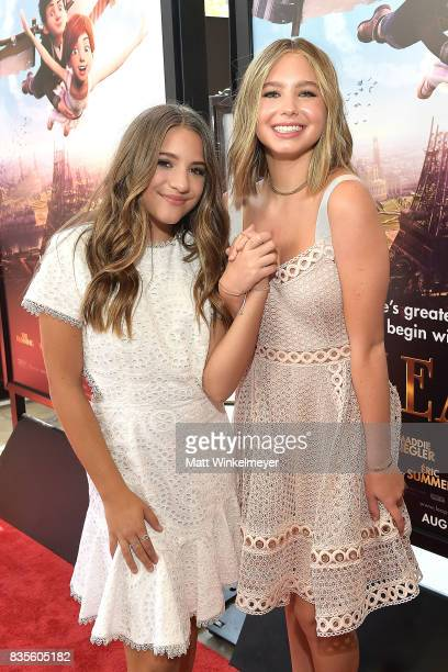 Actress/dancer Mackenzie Ziegler and actress Lilia Buckingham attend the Weinstein Company's 'LEAP' at The Grove on August 19 2017 in Los Angeles...