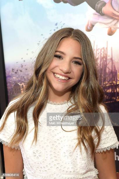 Actress/dancer Mackenzie Ziegler attends the Weinstein Company's 'LEAP' at The Grove on August 19 2017 in Los Angeles California