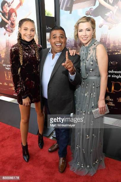 Actress/dancer Maddie Ziegler actor Ricardo 'El Mandrill' Sanchez and actress/singer Carly Rae Jepsen attend the Weinstein Company's 'LEAP' at The...