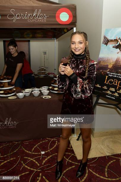Actress/dancer Maddie Ziegler attends the Weinstein Company's 'LEAP' at The Grove on August 19 2017 in Los Angeles California